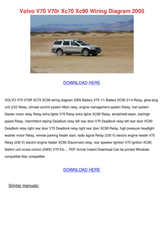 hight resolution of volvo xc90 wiring diagram pdf