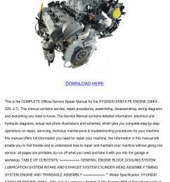 hyundai santa fe engine g6ea gsl 27 service r by antwanworden issuu [ 1060 x 1500 Pixel ]