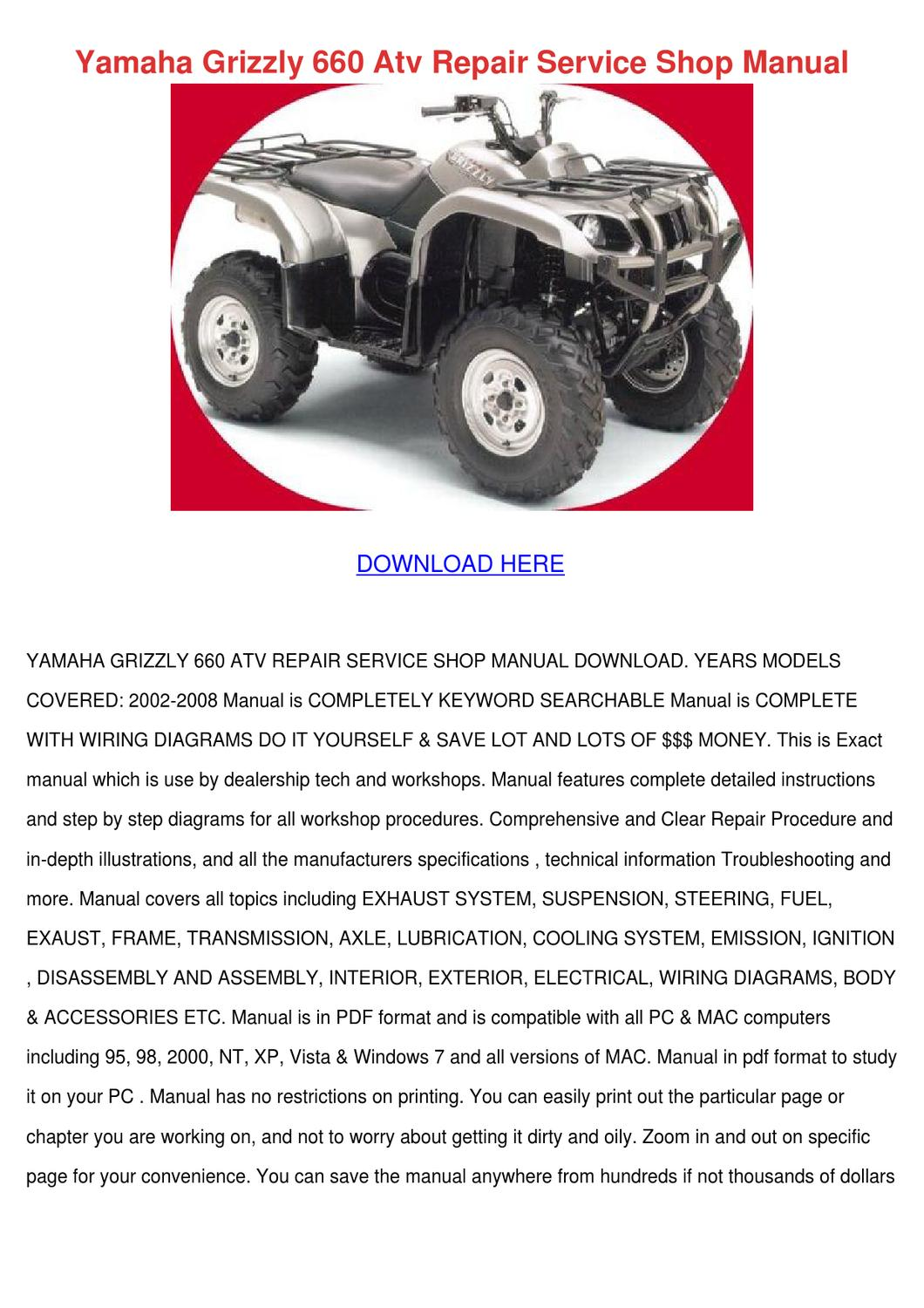 hight resolution of yamaha grizzly 660 atv repair service shop ma by gretchenfelder issuuyamaha grizzly 660 atv repair service