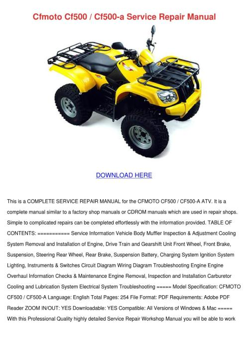 small resolution of cfmoto cf500 cf500 a service repair manual by hattieflaherty issuu