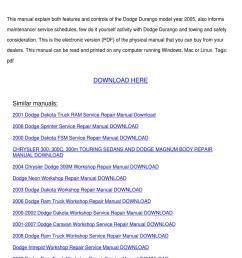05 dodge durango manual [ 1060 x 1500 Pixel ]