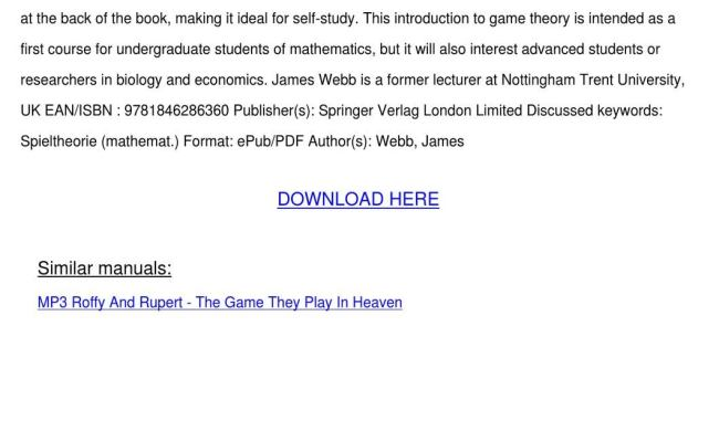 Game Theory By Lamontjensen Issuu