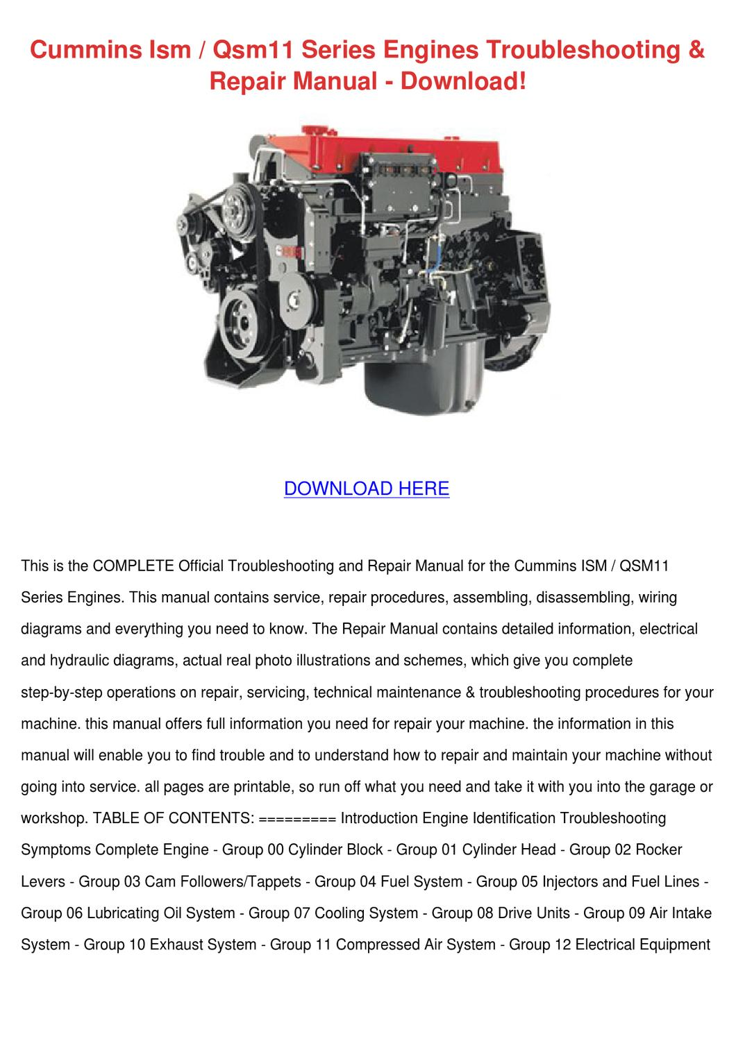 wiring diagram qsm11 iron carbon phase ppt cummins ism series engines troubleshoot by