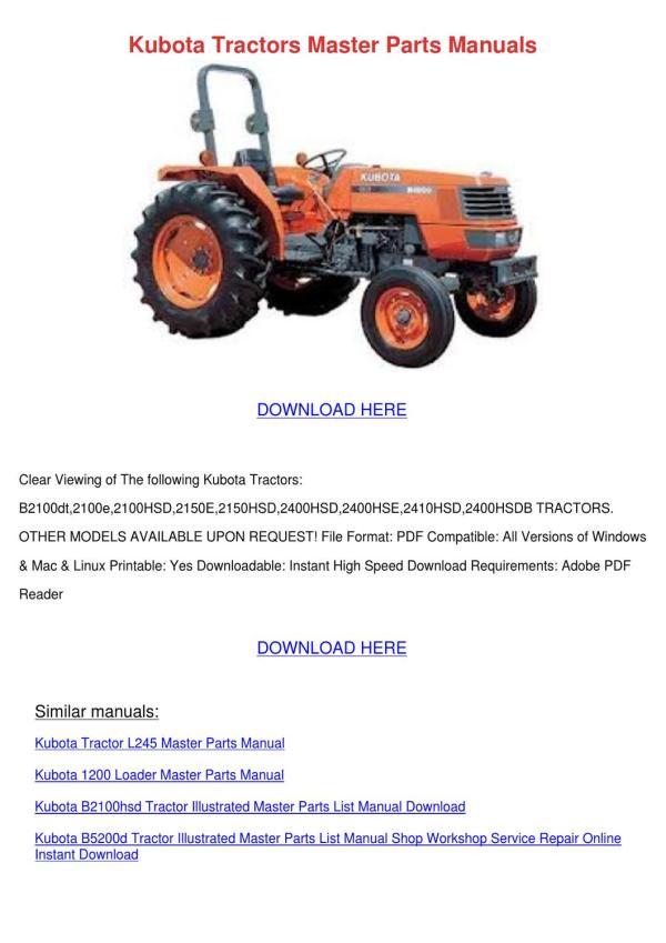 kubota tractor loader parts diagram