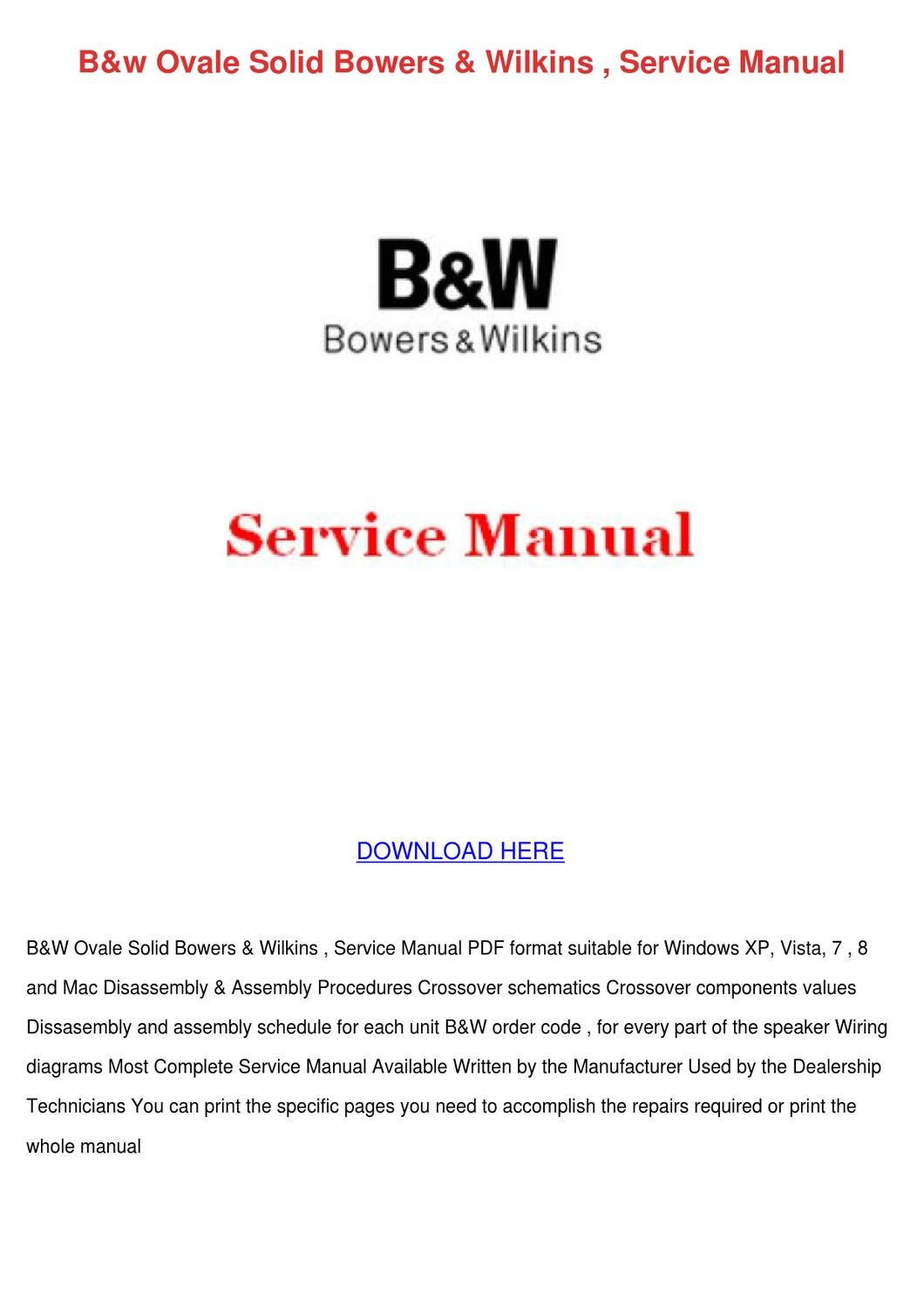 hight resolution of  array bw ovale solid bowers wilkins service manual by erniebroyles issuu rh issuu