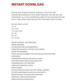 audi a4 service manual repair manual 1995 2001 online [ 1058 x 1497 Pixel ]