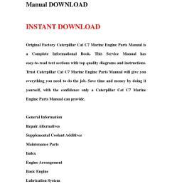 caterpillar cat c7 marine engine parts manual download by hhgsbebfhb issuu [ 1058 x 1497 Pixel ]