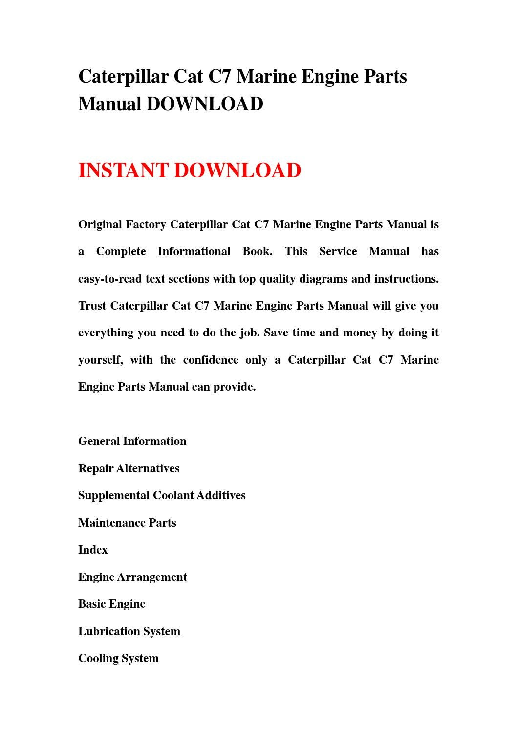 hight resolution of caterpillar cat c7 marine engine parts manual download by hhgsbebfhb issuu
