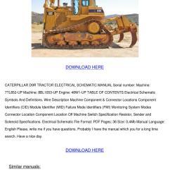 caterpillar d9r tractor electrical schematic [ 1060 x 1500 Pixel ]