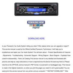 Panasonic Car Audio Wiring Diagram Directv Without Swm Cq C1333u Radio