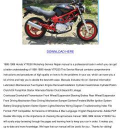 1988 1989 honda vtr250 workshop repair manual [ 1060 x 1500 Pixel ]