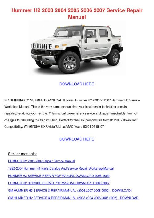 small resolution of hummer h2 2003 2004 2005 2006 2007 service re by keirahodge issuu