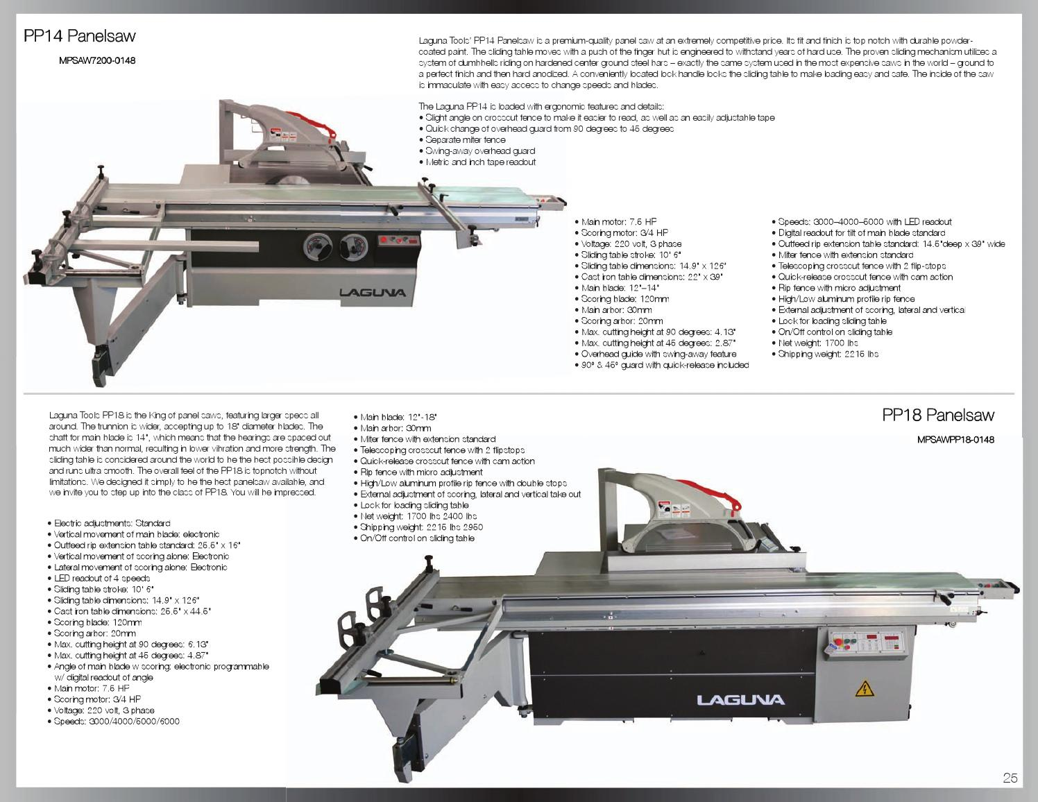 Laguna Sliding Table Saw