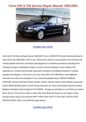Volvo S40 V40 Service Repair Manual 1996 2004 by KatlynJacobsen  Issuu