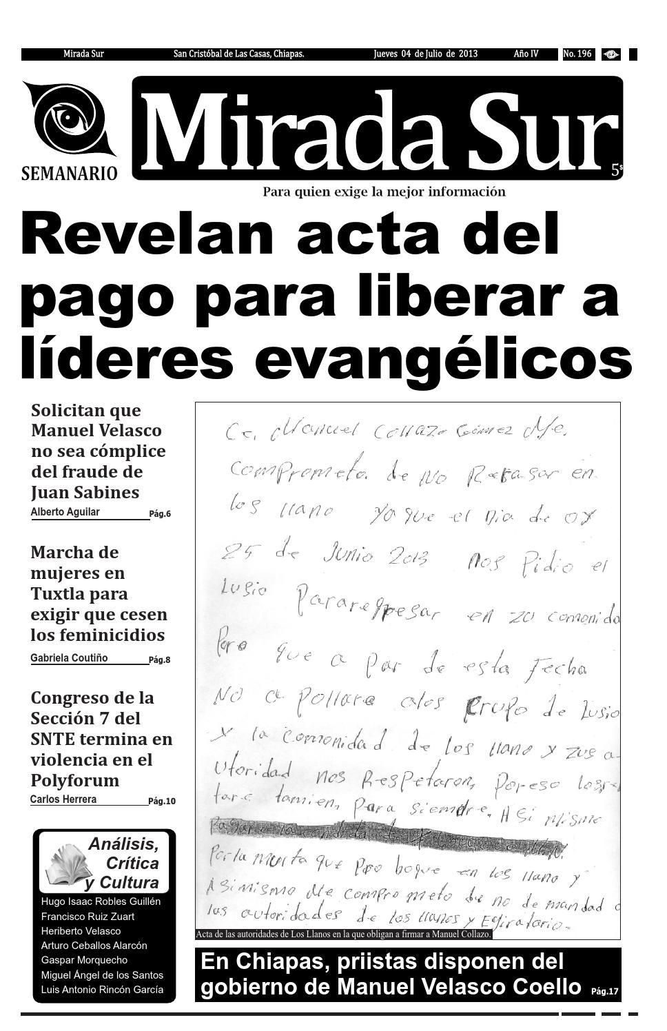 Revelan acta del pago para liberar a líderes evangélicos