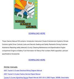 toyota fj cruiser 2012 owners manual [ 1060 x 1500 Pixel ]