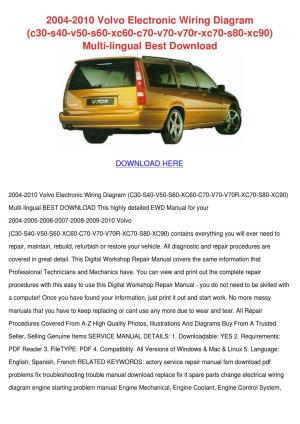 2004 2010 Volvo Electronic Wiring Diagram C30 by