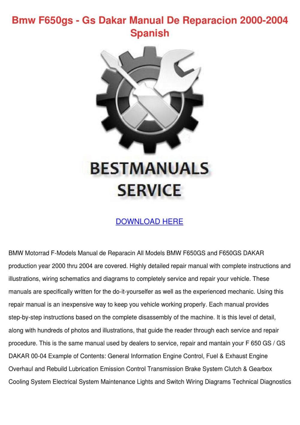 medium resolution of bmw f650gs gs dakar manual de reparacion 2000