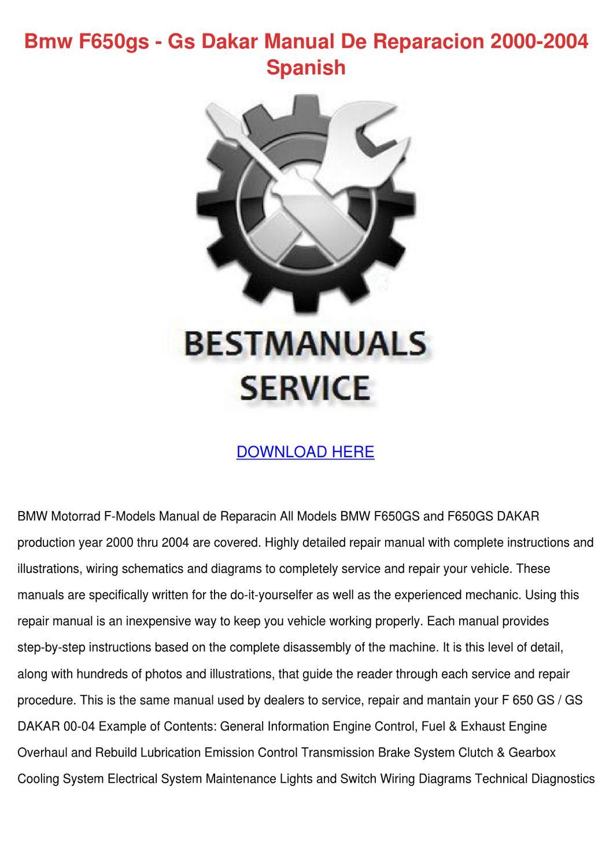 hight resolution of bmw f650gs gs dakar manual de reparacion 2000