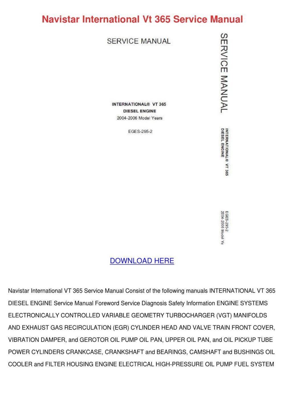 medium resolution of navistar international vt 365 service manual by latricekaminski issuu rh issuu com international