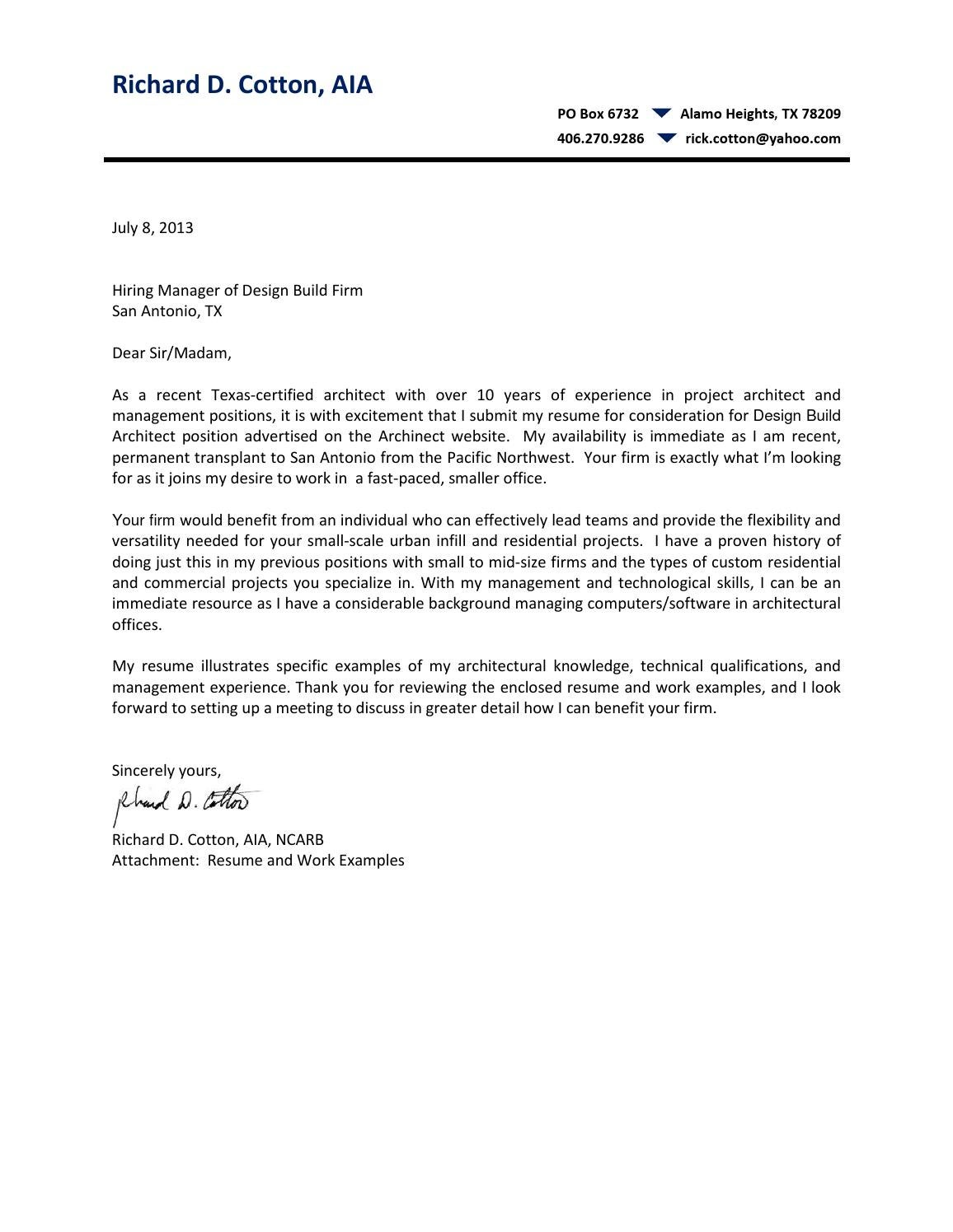 Cover Letter Residential Child Care Worker