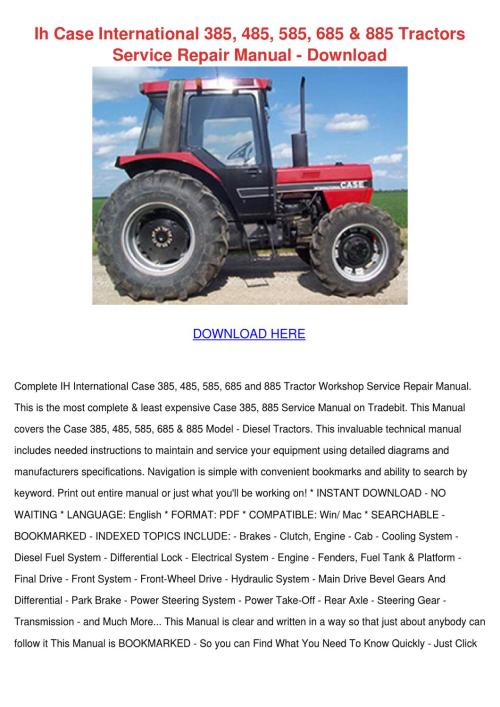 small resolution of case 385 tractor wiring diagram wiring diagram case 385 tractor wiring diagram source case ih 485