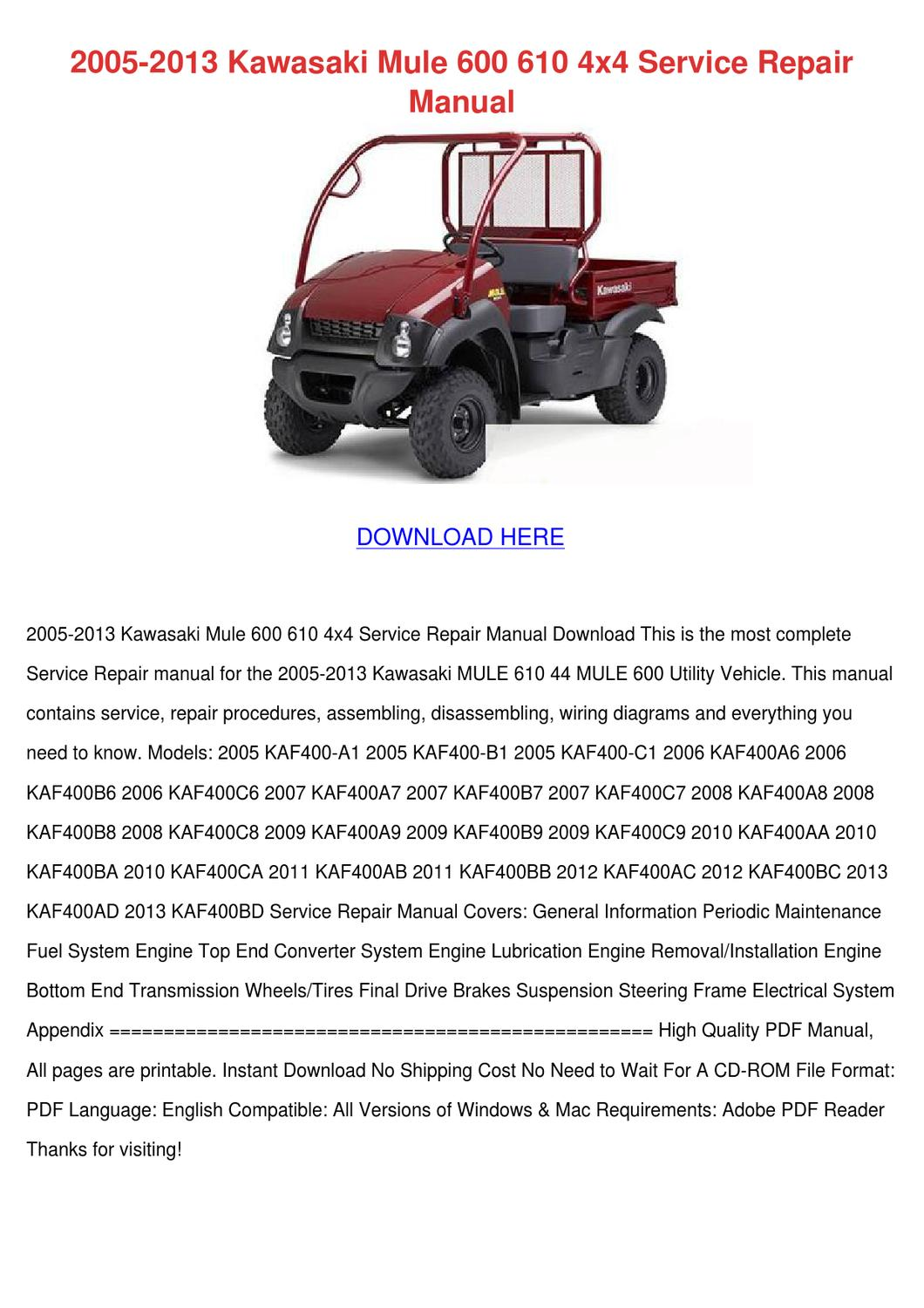2009 kawasaki mule 600 wiring diagram  honda big red wiring diagram on  kawasaki klf 300