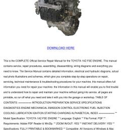 toyota 1az fse engine service repair manual d by nolaoconnor issuu [ 1060 x 1500 Pixel ]