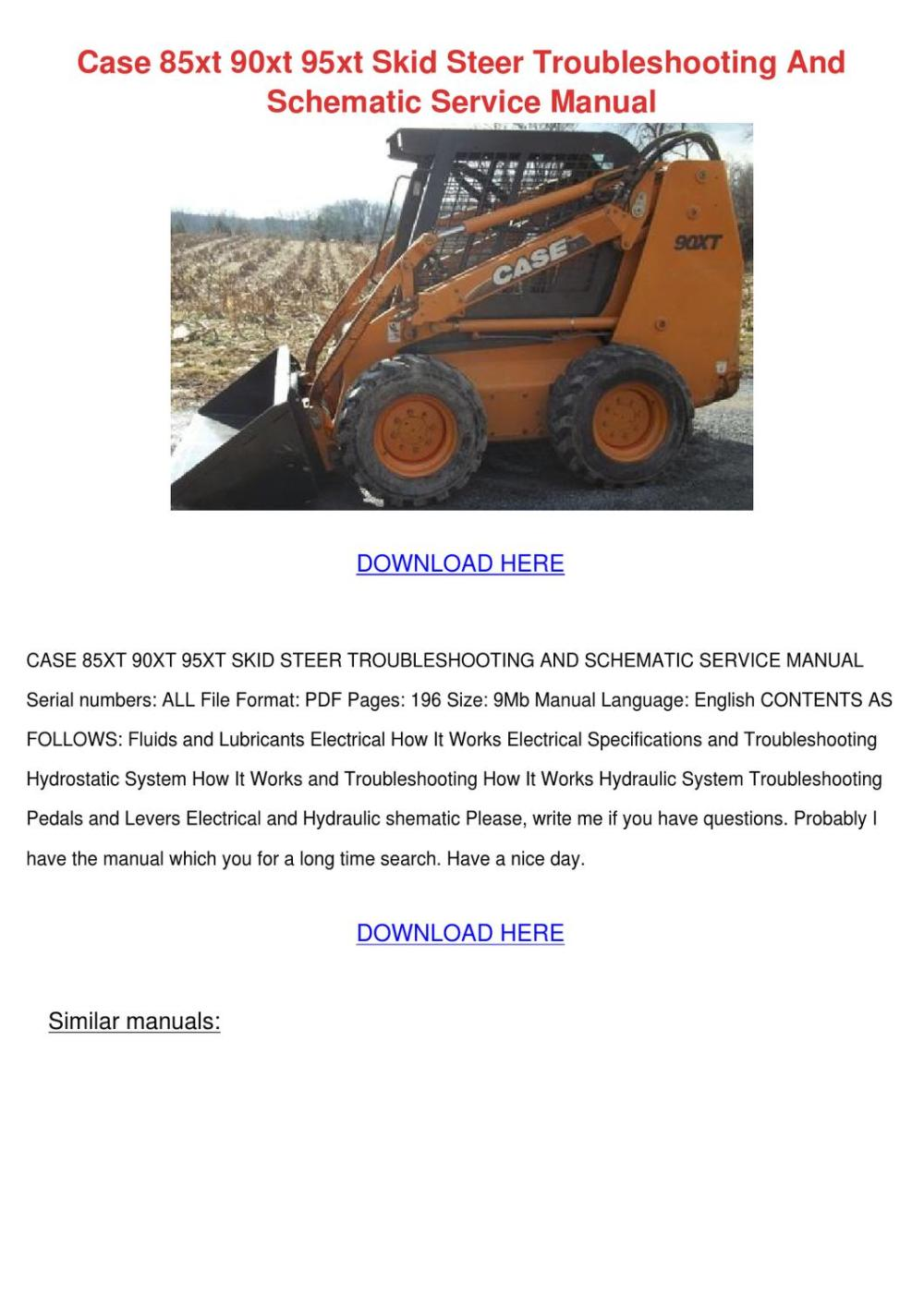 medium resolution of weight when loading hay on cold days with the right attachments a skid steer loader is a multi utilitarian machine this service manual contains pages of