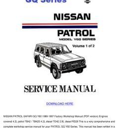 wiring diagrams at back are intact nissan patrol gu gr y61 workshop service repair flag forinappropriate content expect many ebooks that be accessed  [ 1060 x 1500 Pixel ]