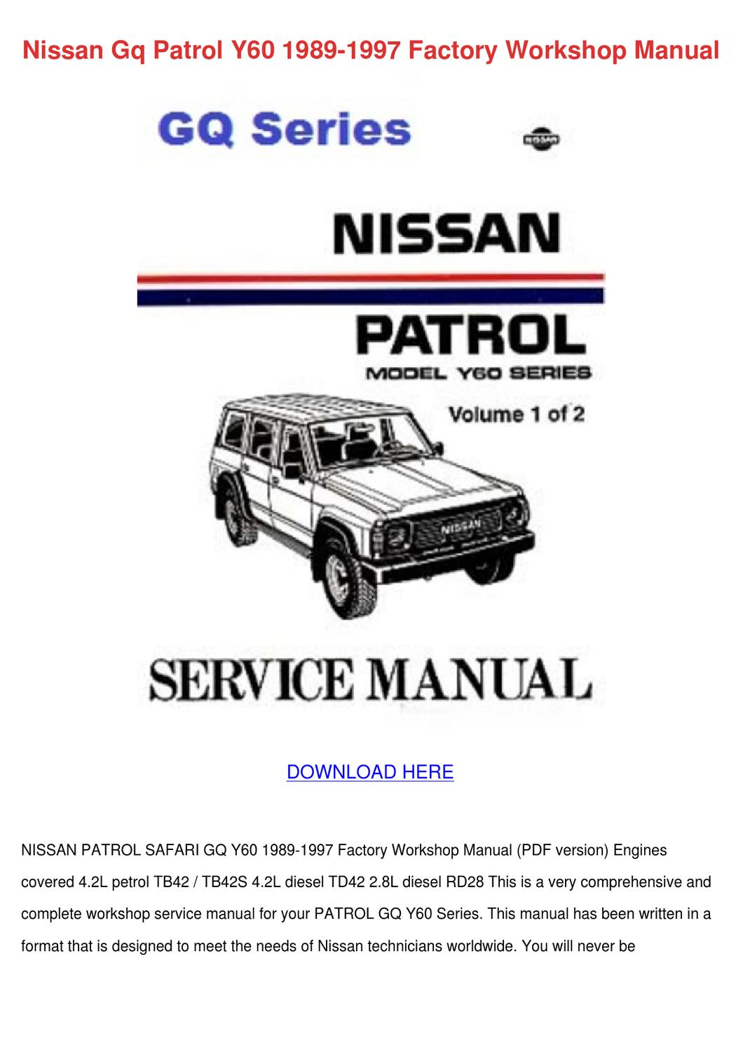 hight resolution of wiring diagrams at back are intact nissan patrol gu gr y61 workshop service repair flag forinappropriate content expect many ebooks that be accessed