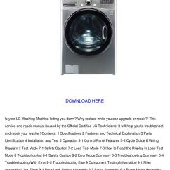 Lg Washing Machine Parts Diagram 2 Pole 3 Wire Grounding Wm3470hva Service Manual Repair Guide By Chantebeeler
