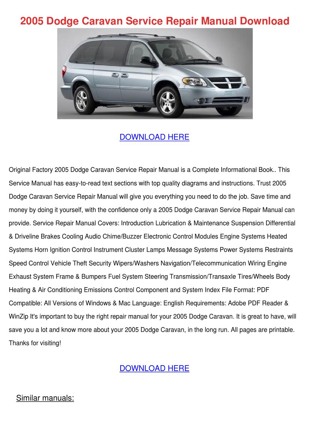 hight resolution of dodge caravan brake repair diagram