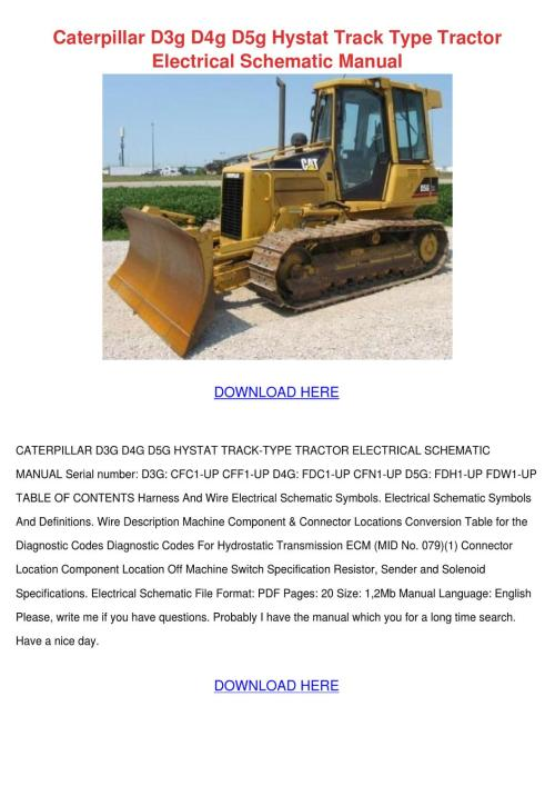 small resolution of caterpillar d3g d4g d5g hystat track type tra by ulyssessosa issuu