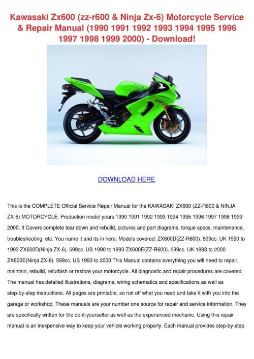small resolution of kawasaki zx600 zz r600 ninja zx 6 motorcycle