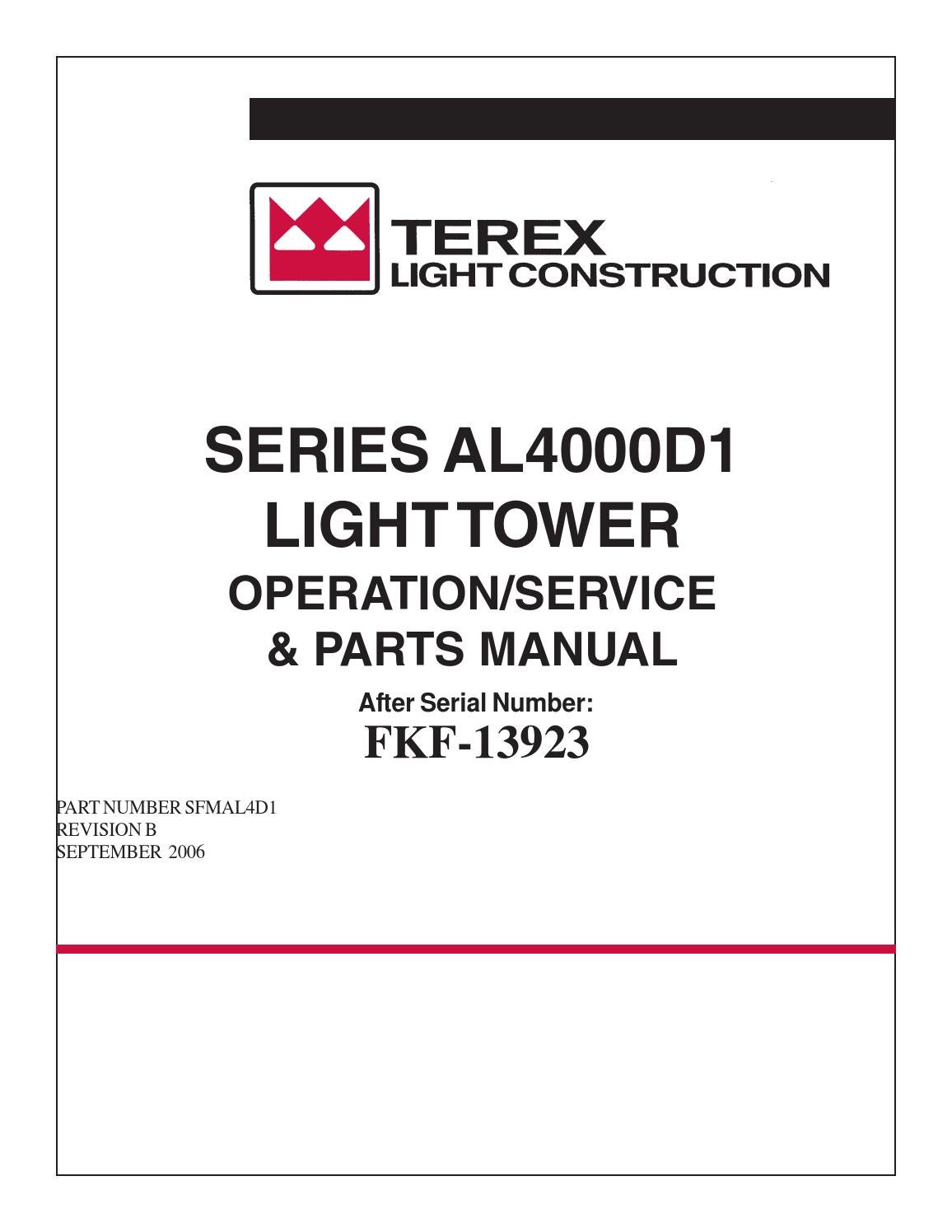 TEREX AMIDA LIGHT TOWER SERIES AL4000D1 by Power