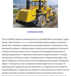 bomag mph122 soil stabilizer asphalt recycler by gitaflannery issuubomag mph122 soil stabilizer asphalt recycler [ 1060 x 1500 Pixel ]
