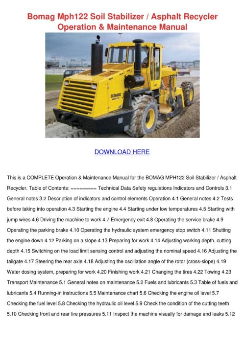 small resolution of bomag mph122 soil stabilizer asphalt recycler by gitaflannery issuubomag mph122 soil stabilizer asphalt recycler