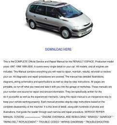renault espace service repair manual 1997 199 [ 1060 x 1500 Pixel ]