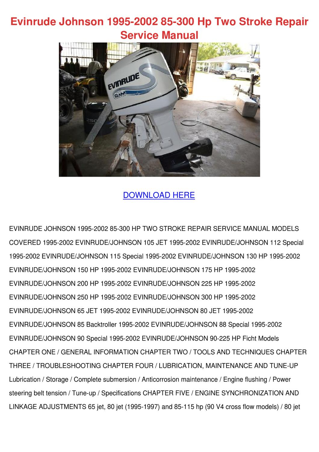 2002 evinrude 90 ficht wiring diagram 49cc mini chopper johnson 1995 85 300 hp two stro by
