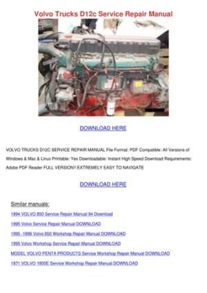 Volvo Trucks D12c Service Repair Manual by LouisaKerr  Issuu