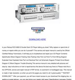 reloop rcd 2650s service manual repair guide [ 1060 x 1500 Pixel ]