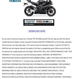 download service repair manual yamaha yzf r6 [ 1060 x 1500 Pixel ]