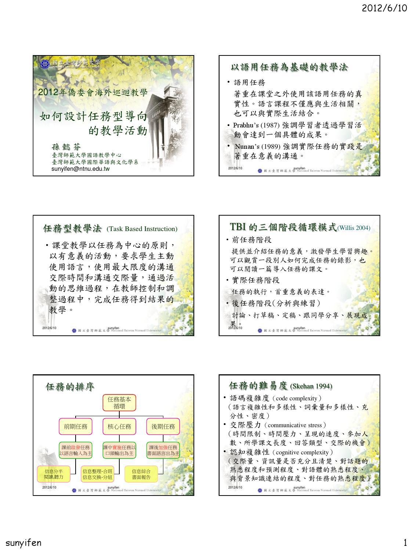 任務型教學設計 by hshio yun - Issuu