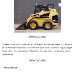 caterpillar 248 skid steer loader hydraulic s [ 1060 x 1500 Pixel ]