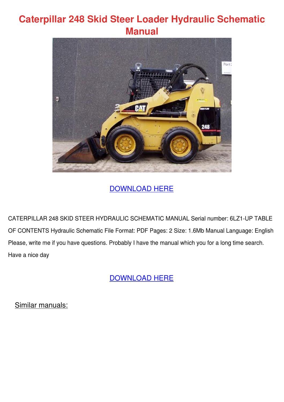 hight resolution of caterpillar 248 skid steer loader hydraulic s