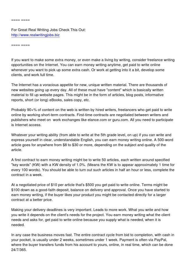 Earn money writing get paid to write online by writingx - issuu