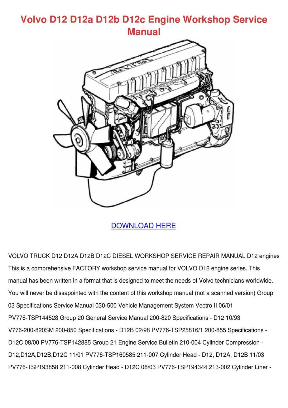 medium resolution of volvo d12a engine diagram