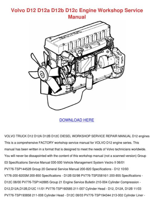 small resolution of volvo d12 d12a d12b d12c engine workshop serv