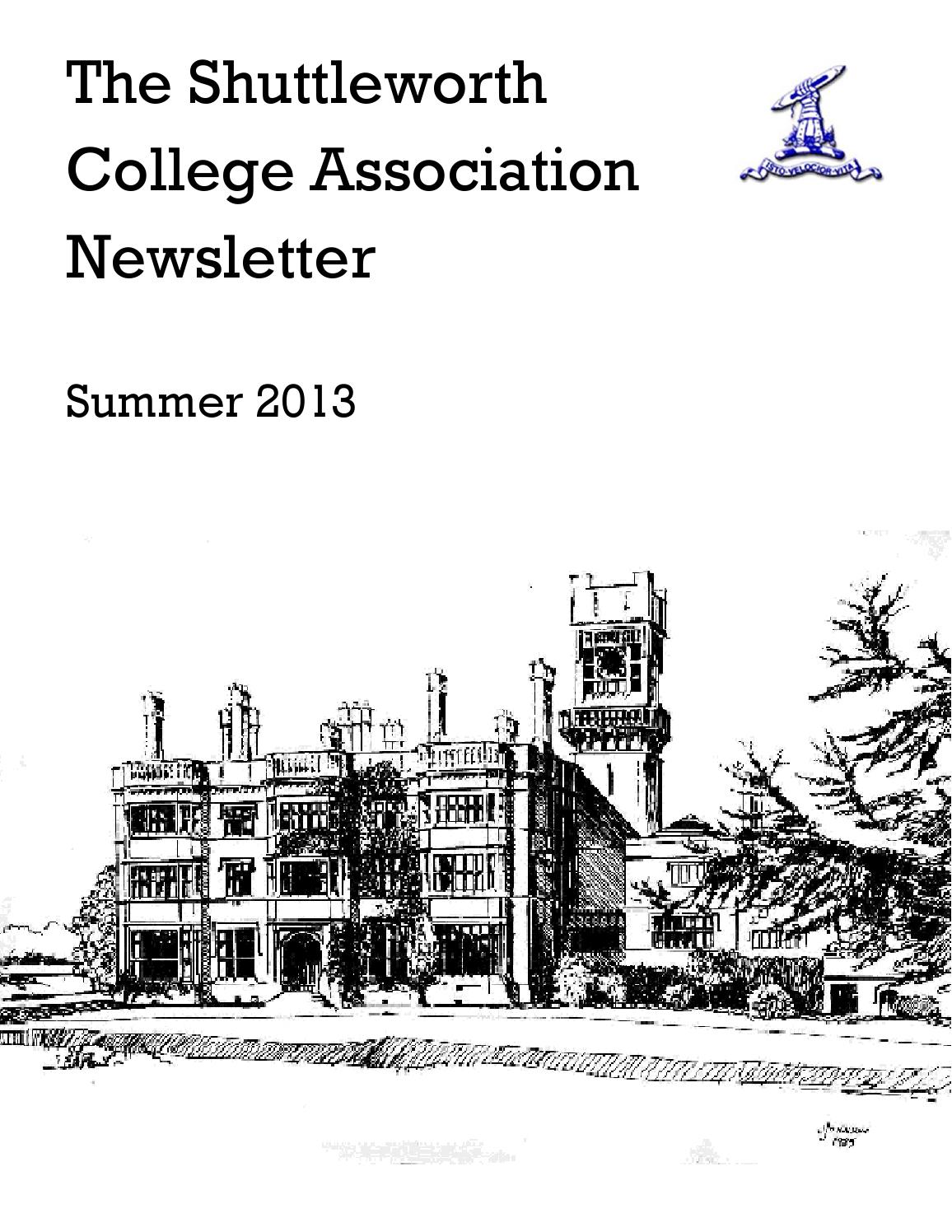 Shuttleworth College Association Newsletter by The Bedford